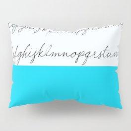 Alphabet-Turquoise  Pillow Sham