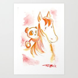 It's Never Too Late to Get Back On The Horse Art Print