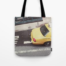 one way taxi:: nyc Tote Bag