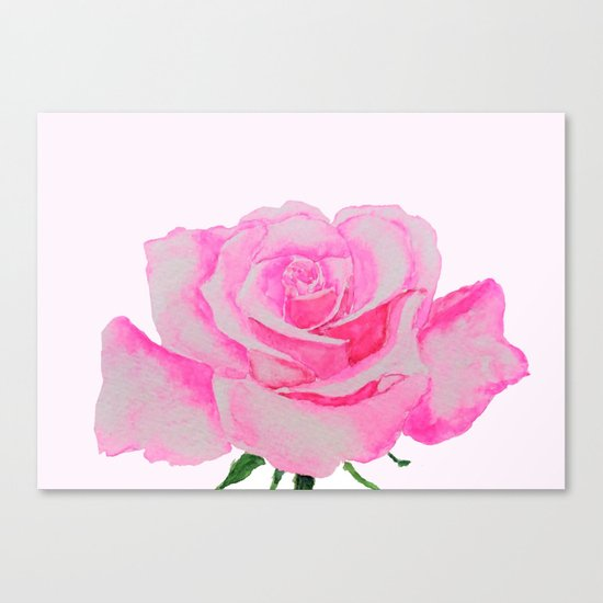 one pink rose Canvas Print