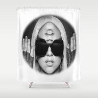 illuminati Shower Curtains featuring Illuminati Princess by ELIAOKO