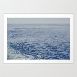 Floating on the Blue Ocean Art Print