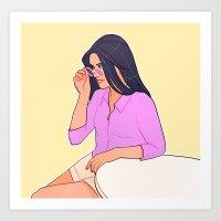 sunglasses Art Prints featuring Sunglasses by Kelslk