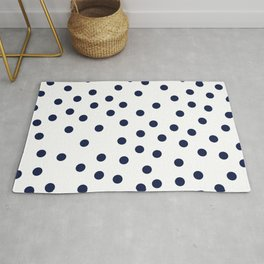 Simply Dots in Nautical Navy Rug