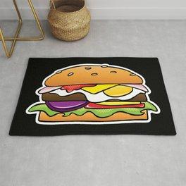 Aussie Burger on Black Rug