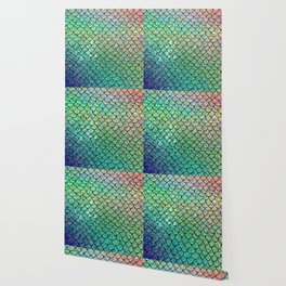 Colorful Glitter Mermaid Scales II Wallpaper