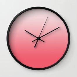 Calypso Coral Rose Quartz Ombre Wall Clock