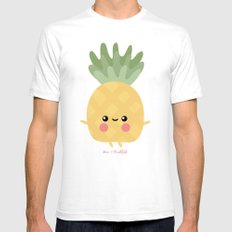 Kawaii Pineapple SMALL Mens Fitted Tee White
