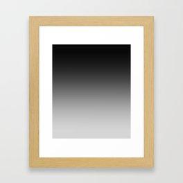 Black to Gray Horizontal Linear Gradient Framed Art Print