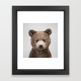 Baby Bear - Colorful Framed Art Print