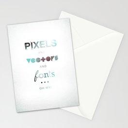Pixels Vectors Fonts Stationery Cards