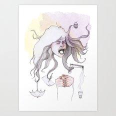 Hairs as Hands Art Print