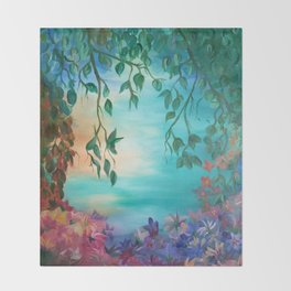 enchanted painting Throw Blanket