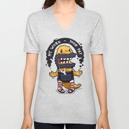 Unqualified Guest Worker is Looking for Job Unisex V-Neck