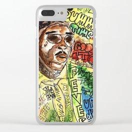 free wurl boss,world boss,dancehall,reggae,jamaica,soca,poster,fan art,art,cool,dope, Clear iPhone Case
