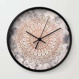 ROSE NIGHT MANDALA Wall Clock