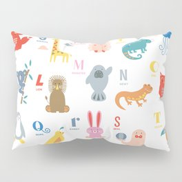 Colorful Alphabet Friends Pillow Sham