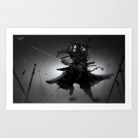 sword Art Prints featuring Sword Collector by Benedick Bana