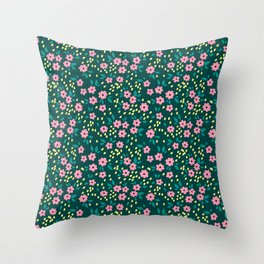 16 Ditsy floral pattern Throw Pillow