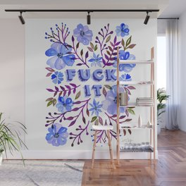 F*ck It – Blueberry Palette Wall Mural