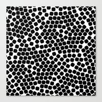 gold dots Canvas Prints featuring Dots by Patterns and Textures