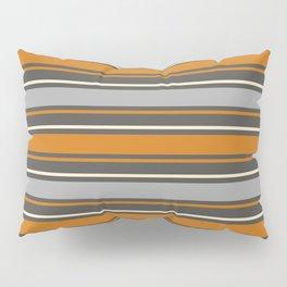 Minimal Abstract Vintage Cream Orange Greye 06 Pillow Sham