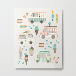 Ice Cream Parade Metal Print