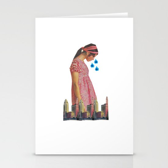 Teary Cities Stationery Cards
