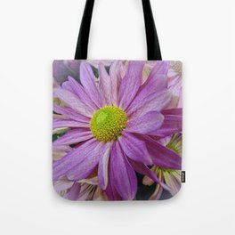 Lavender African Daisy Tote Bag