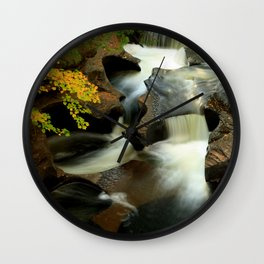 Fall from the Bridge Wall Clock