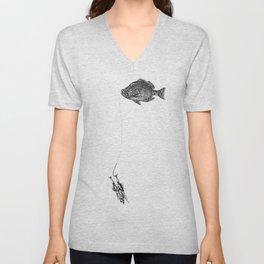 Fish Mnan Unisex V-Neck