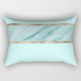 Aqua marble azure stripe Rectangular Pillow