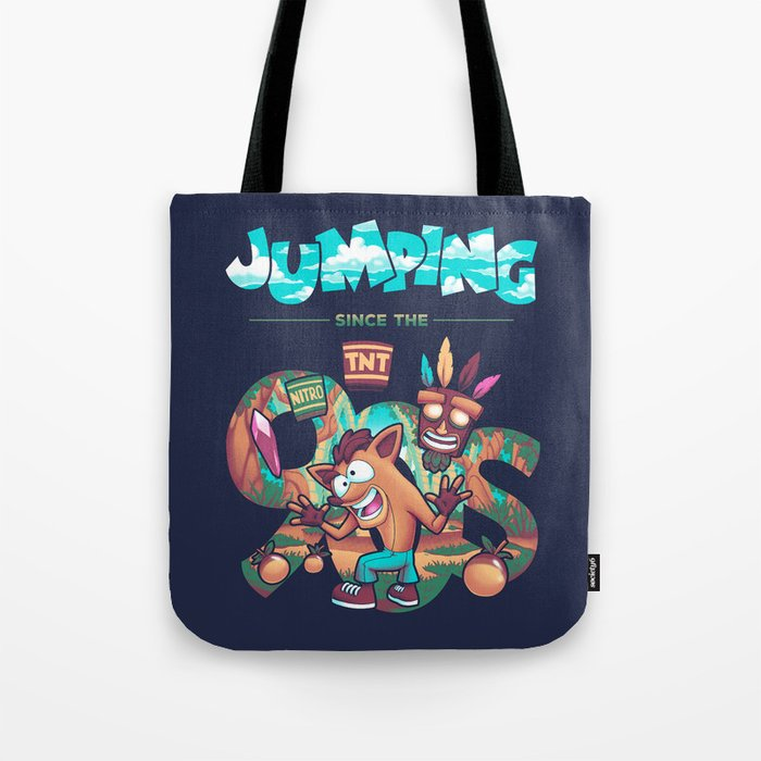 Jumping Since The 90s Tote Bag