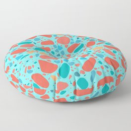Terrazzo - Mosaic - living coral palette Floor Pillow