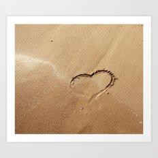I ♥ beach Art Print