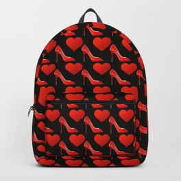 Love Red shoes - high heel pattern Backpack