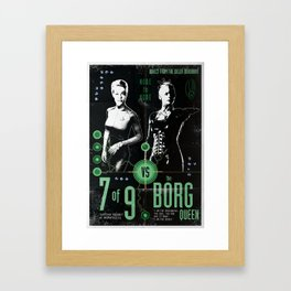7 of 9 vs The Borg Queen - Who will win? Framed Art Print