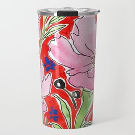 Cosmos in Red Travel Mug