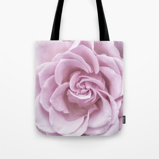 Pink Heart of a rose Roses Flowers Tote Bag