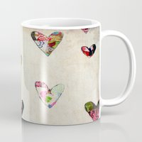 antique Mugs featuring Hearts (antique) by Natalie Baca