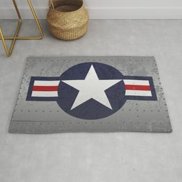 U.S. Military Aviation Star National Roundel Insignia Rug