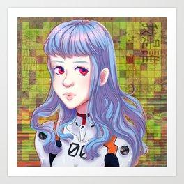 rei ayanami_02 Art Print