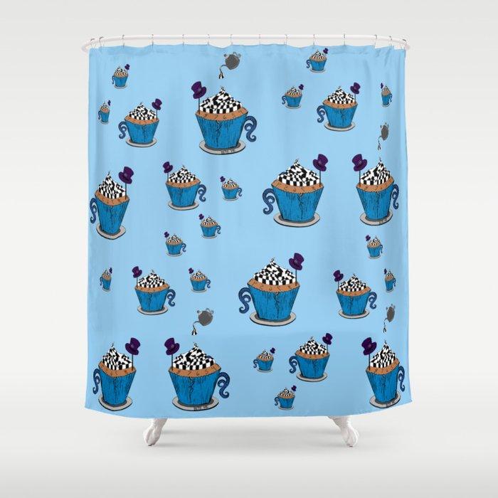 Superieur Wonderland Cupcake Shower Curtain