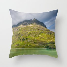 Peaks in the cloud Throw Pillow