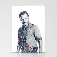 rick grimes Stationery Cards featuring Rick Grimes by NKlein Design