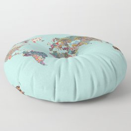 Louis Armstrong Told Us So (teal) Floor Pillow
