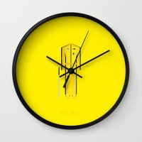 kill bill Wall Clocks featuring Kill Bill | Famous Costumes by Fred Birchal