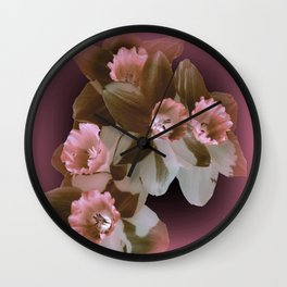 Enchanted Daffodils Wall Clock