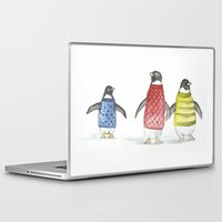 penguins Laptop & iPad Skins featuring penguins by Maria Durgarian