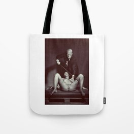 The Cane 2# Nude woman and her master Tote Bag